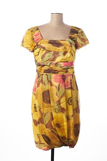 Robe mi-longue jaune ELLA pour femme