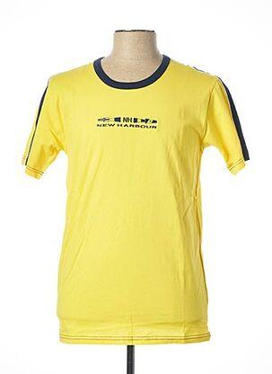 T-shirt manches courtes jaune JULIPET pour homme