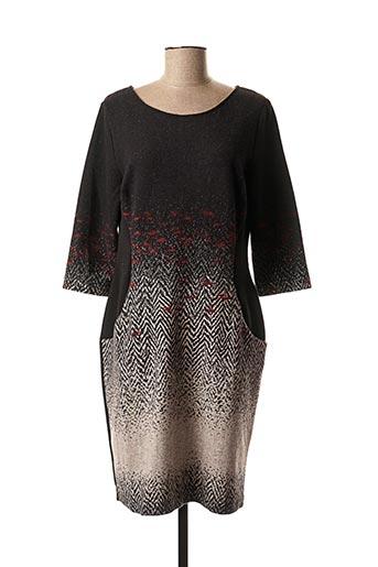 Robe mi-longue noir ETICI pour femme