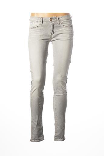 Jeans skinny gris LE TEMPS DES CERISES pour femme