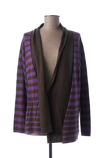 Gilet manches longues violet ESCORPION pour femme