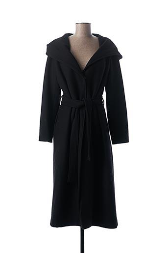 Manteau long noir B.YU pour femme