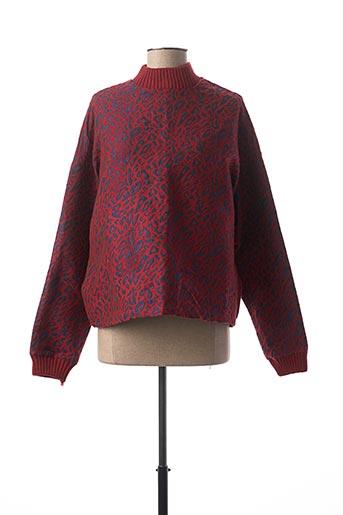T-shirt manches longues rouge ELLI WHITE pour femme