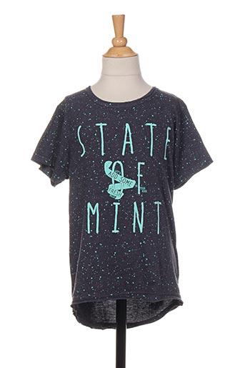 T-shirt manches courtes gris JN-JOY pour fille