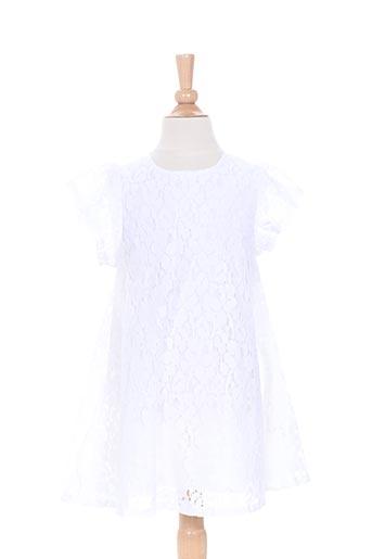 Robe mi-longue blanc CONFETTI pour fille