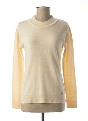 Pull col rond beige FELINO pour femme