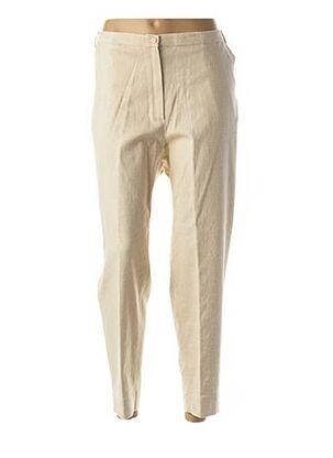 Pantalon 7/8 beige CHRISTIAN MARRY pour femme