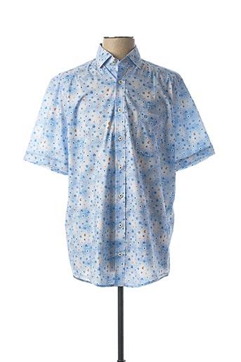 Chemise manches courtes bleu CASAMODA pour homme