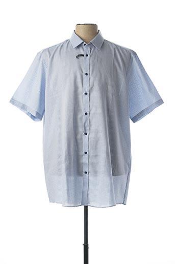 Chemise manches courtes bleu VENTI pour homme