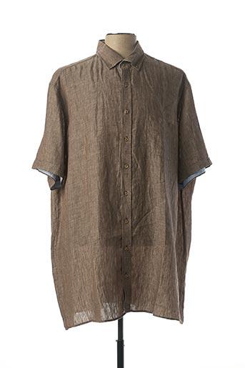Chemise manches courtes marron CASAMODA pour homme