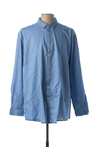 Chemise manches longues bleu VENTI pour homme