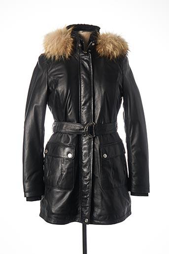 Manteau long noir ROSE GARDEN pour homme