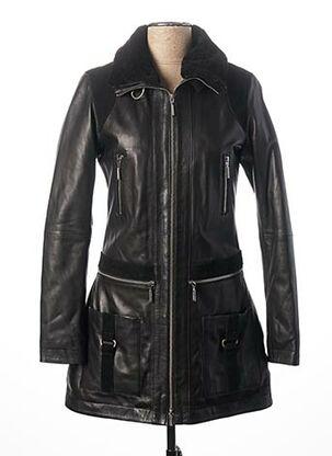 Manteau court noir ROSE GARDEN pour femme