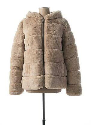 Manteau court beige ROSE GARDEN pour femme