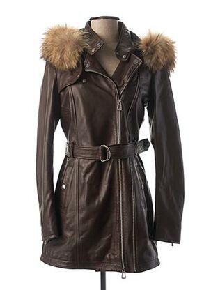 Manteau long marron ROSE GARDEN pour femme