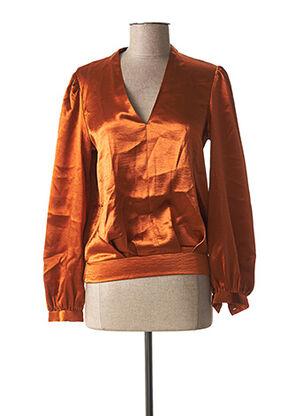 Blouse manches longues orange SCOTCH & SODA pour femme