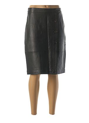 Jupe mi-longue noir VILA pour femme