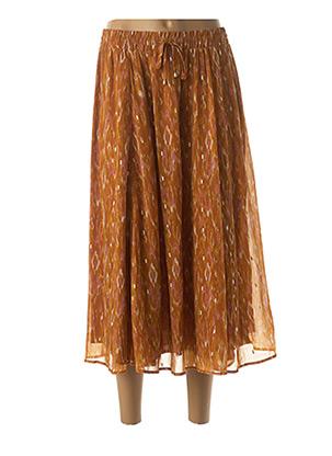 Jupe mi-longue orange VILA pour femme
