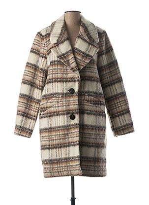 Manteau long beige VILA pour femme