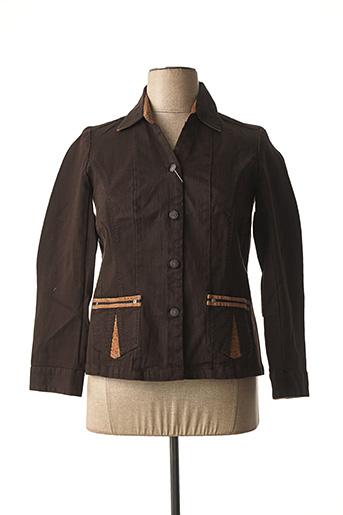 Veste chic / Blazer marron JAC JAC pour femme