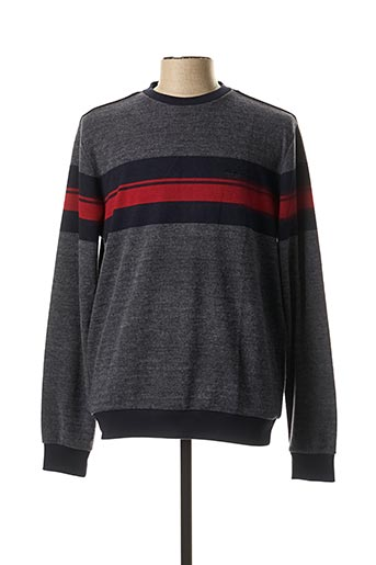 Pull col rond bleu MONTE CARLO pour homme
