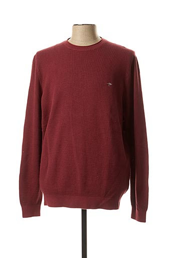Pull col rond rouge FYNCH-HATTON pour homme
