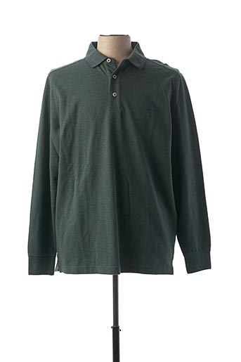 Polo manches longues vert FYNCH-HATTON pour homme