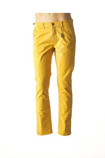 Pantalon casual jaune IZAC pour homme