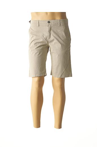 Short beige IZAC pour homme