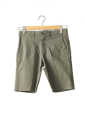 Short vert IZAC pour homme