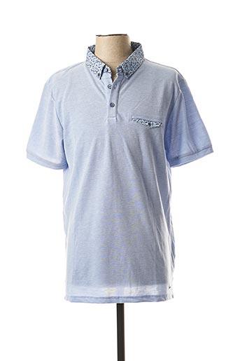 Polo manches courtes bleu IZAC pour homme