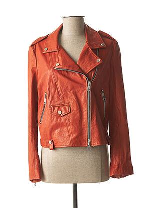 Veste en cuir marron IMPERIAL pour femme