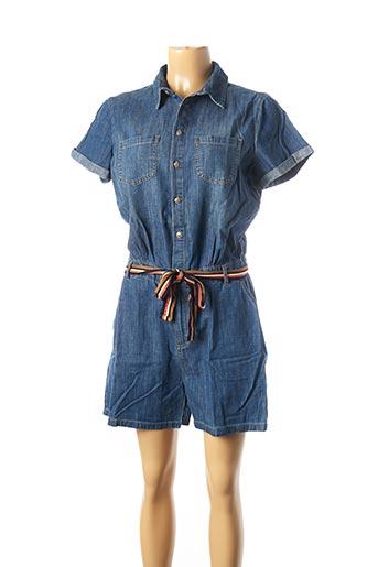 Combishort bleu KOCCA pour femme