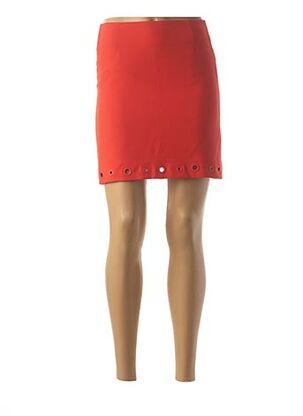 Jupe courte orange KOCCA pour femme