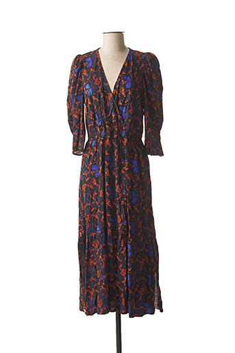 Robe longue bleu ANGE pour femme