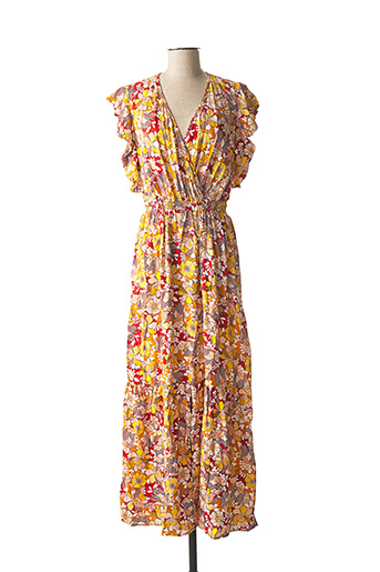 Robe longue jaune ANGE pour femme
