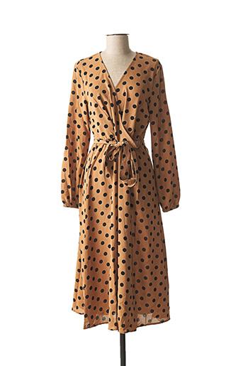 Robe longue marron B.YOUNG pour femme