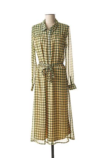 Robe longue vert BLEND SHE pour femme