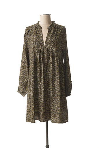 Robe mi-longue vert ANGE pour femme