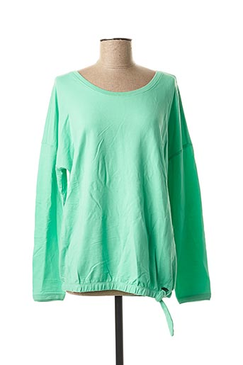 Pull col rond vert CECIL pour femme
