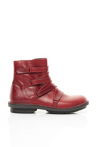 Bottines/Boots rouge FLY LONDON pour femme