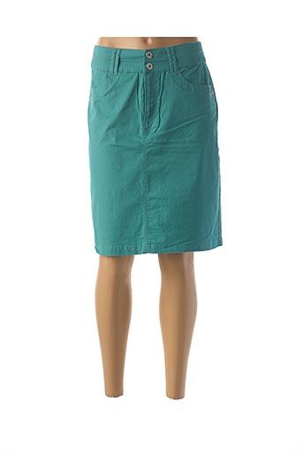 Jupe mi-longue bleu JENSEN pour femme