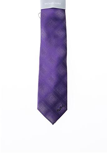 Cravate violet MICHAEL KORS pour homme