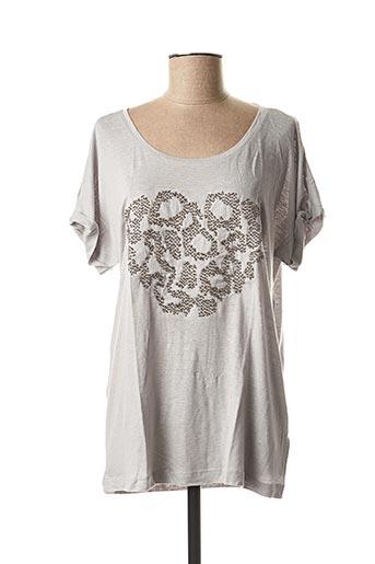 T-shirt manches courtes gris SANDWICH pour femme