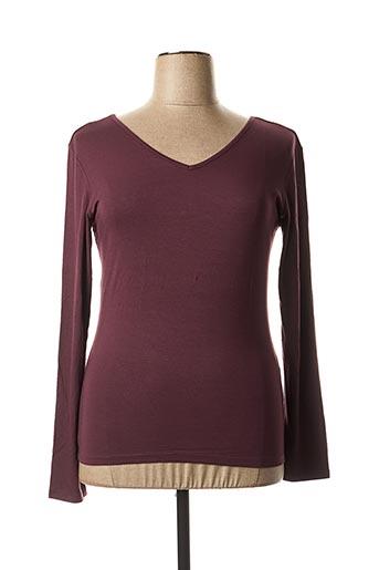 T-shirt manches longues violet LA FEE MARABOUTEE pour femme
