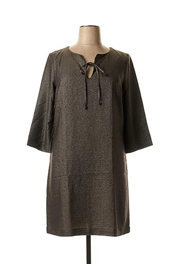 Robe mi-longue gris LA FEE MARABOUTEE pour femme