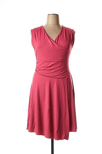 Robe mi-longue rose LA FEE MARABOUTEE pour femme