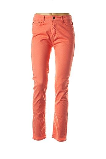 Pantalon casual orange EQUATION pour femme
