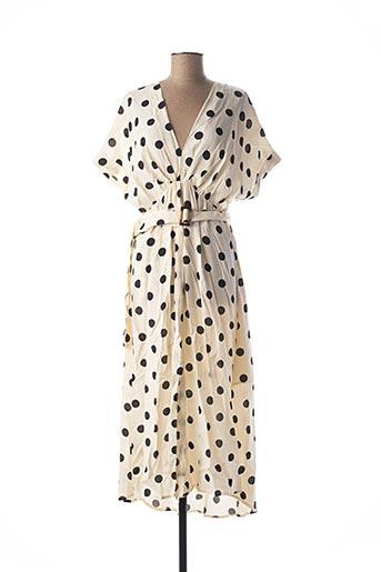 Robe longue beige GRACE & MILA pour femme