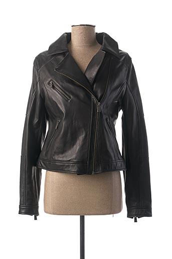 Veste en cuir noir DAYTONA pour femme